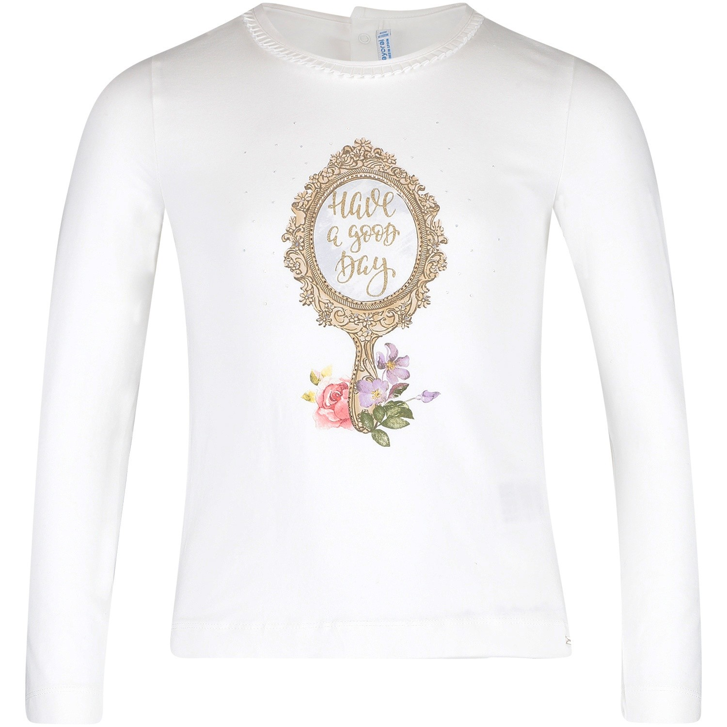 Afbeelding van Mayoral 4046 kinder t-shirt off white