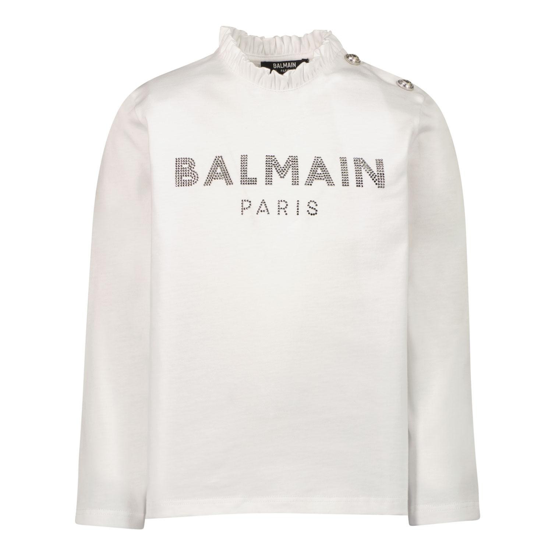 Afbeelding van Balmain 6P8880 baby t-shirt wit