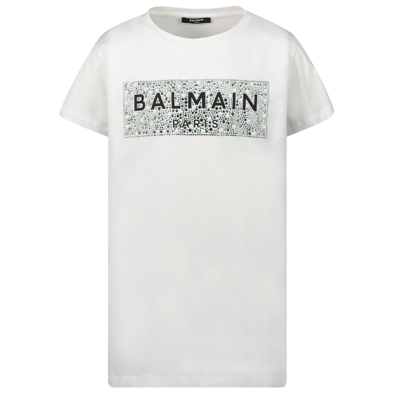 Afbeelding van Balmain 6M8001 kinder t-shirt wit