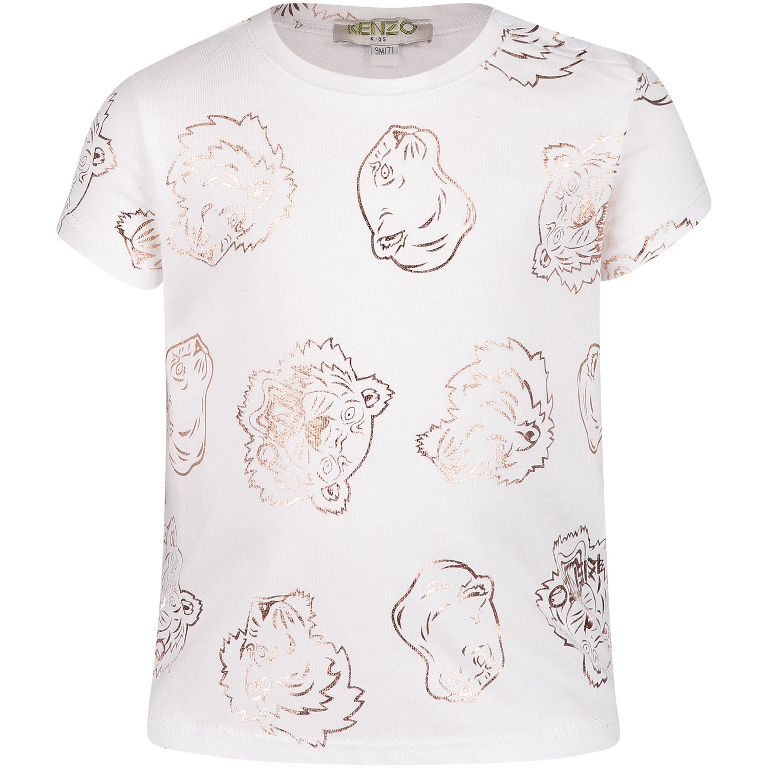 Picture of Kenzo KN10228BB baby shirt white