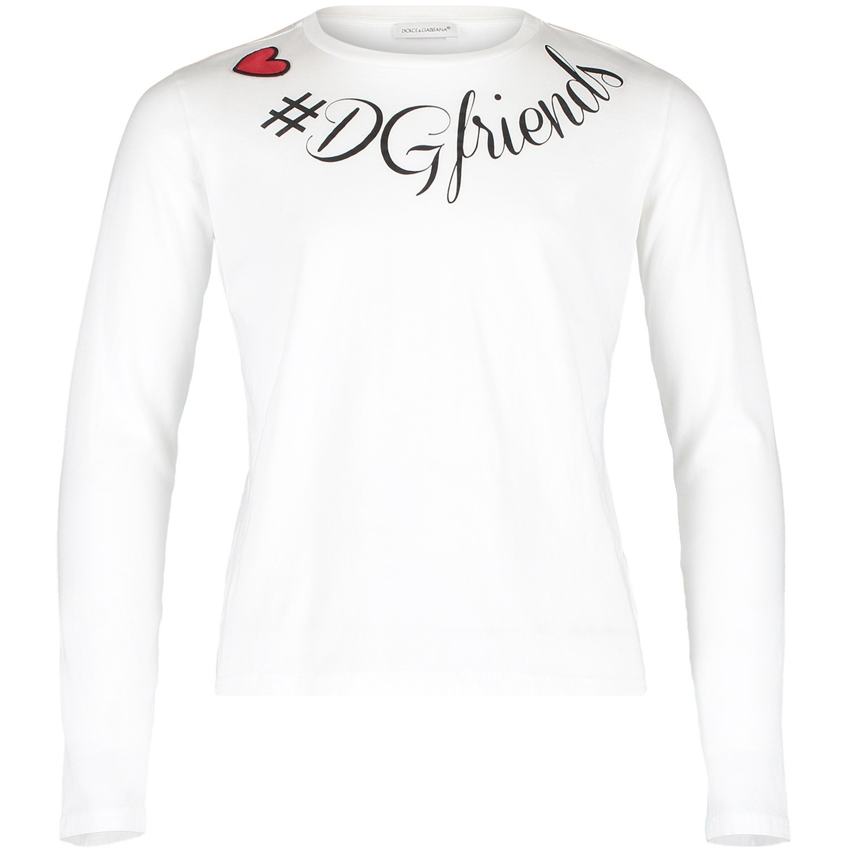 Dolce   Gabbana L5Jtay meisjes kinder t-shirt wit bij Coccinelle 551208a95837