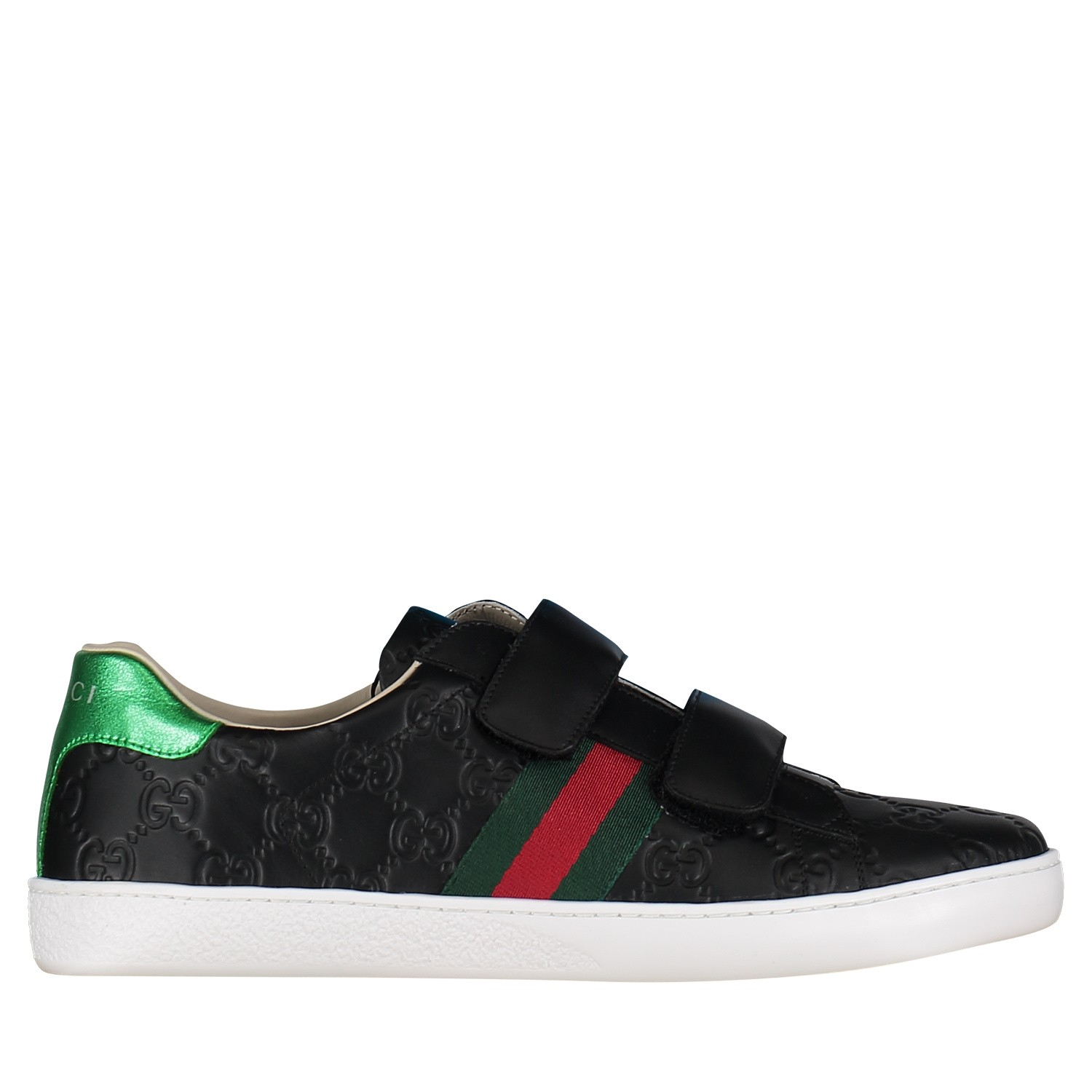 Picture of Gucci 455496 DF720 kids sneakers black