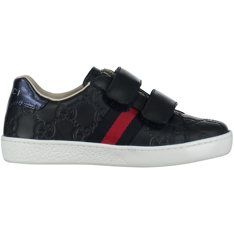 Afbeelding van Gucci 455448 DF720 kindersneakers navy