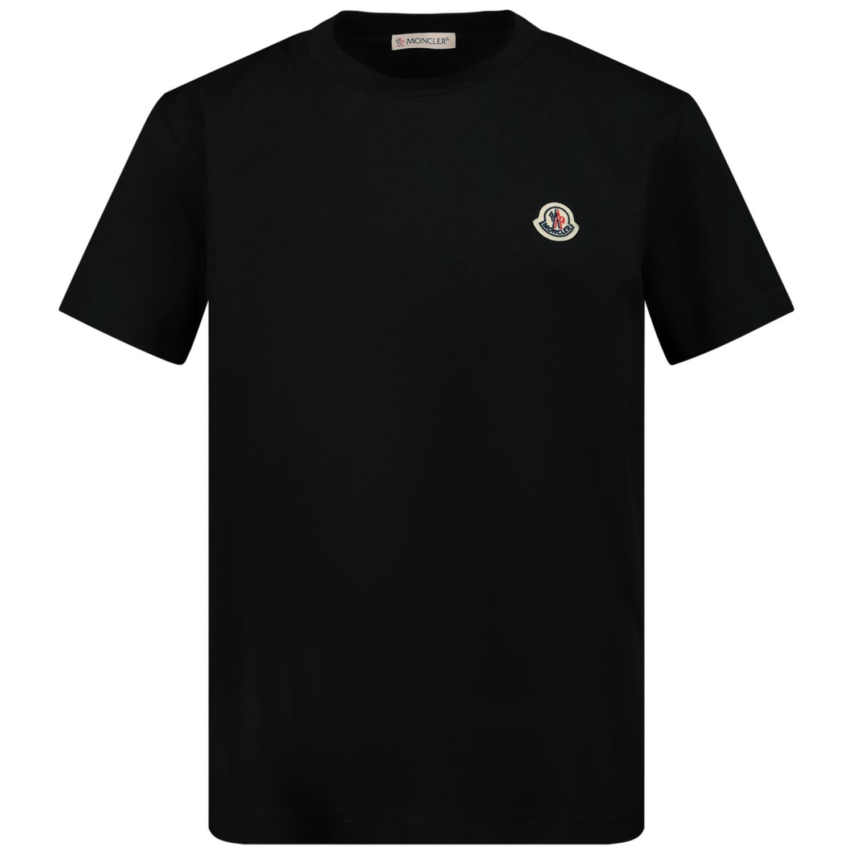 Afbeelding van Moncler 8C74600 kinder t-shirt zwart