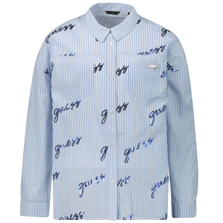 Afbeelding van Guess J93H08 kinder overhemd blauw