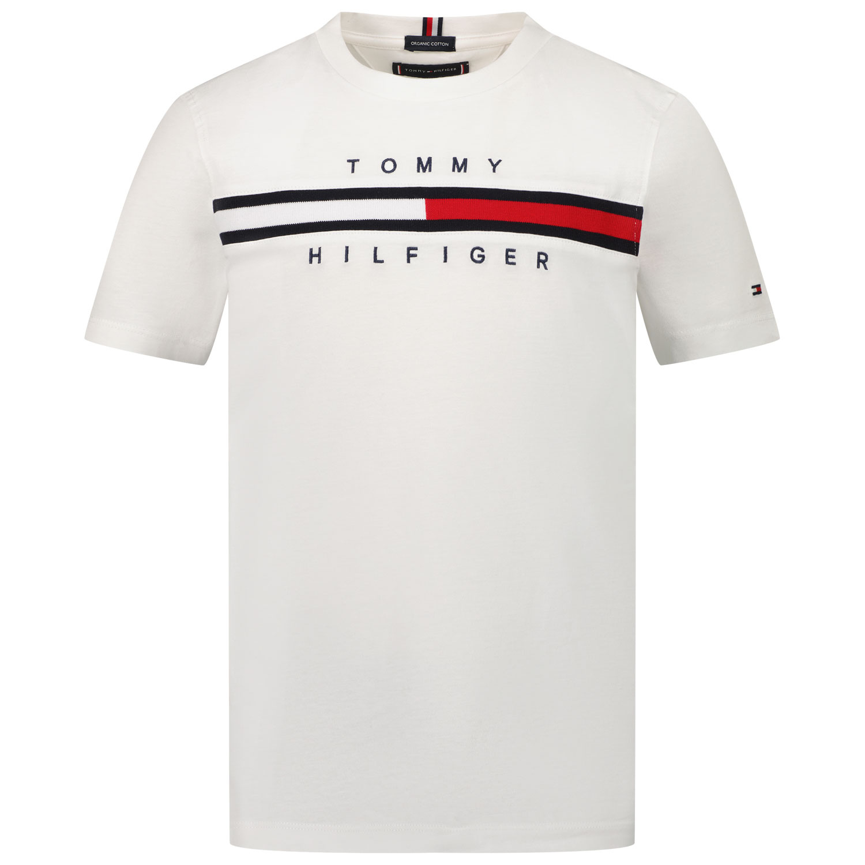 Afbeelding van Tommy Hilfiger KB0KB06532 kinder t-shirt wit