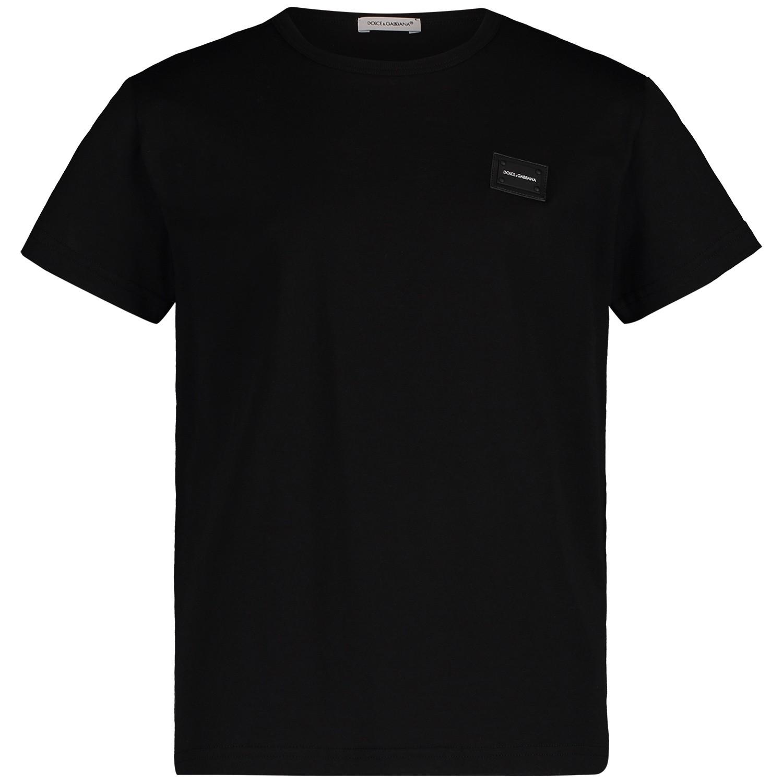 Picture of Dolce & Gabbana L4JT7T G7OLK kids t-shirt black