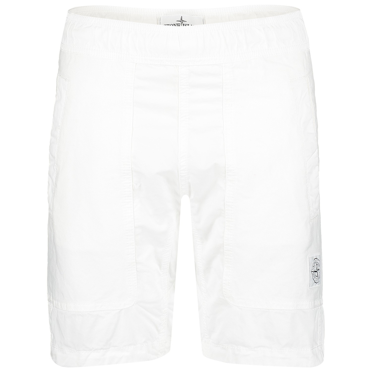 Picture of Stone Island 7016L0811 kids shorts white