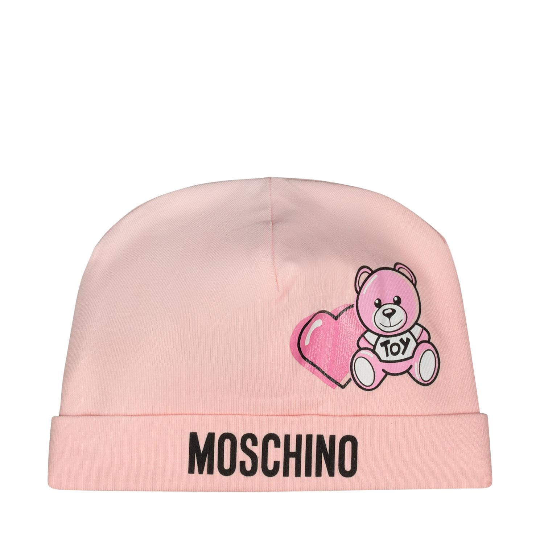Afbeelding van Moschino MUX03G babymutsje roze