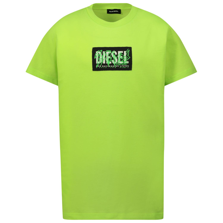 Afbeelding van Diesel J00112 kinder t-shirt fluor groen