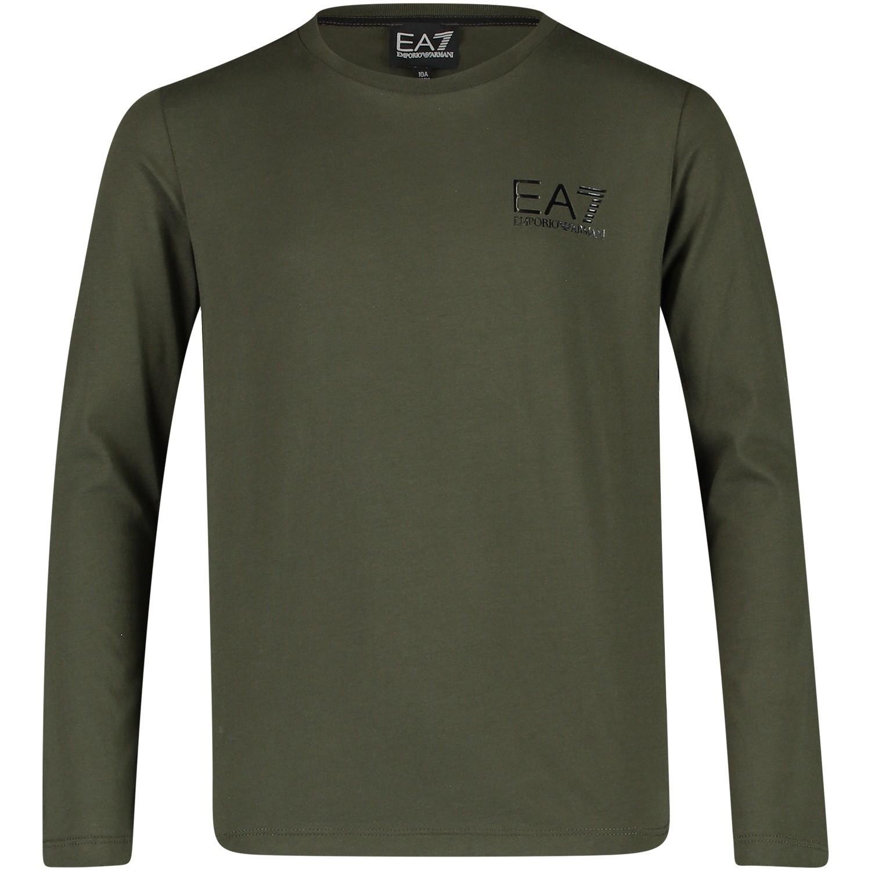 Afbeelding van EA7 6ZBT52 kinder t-shirt army