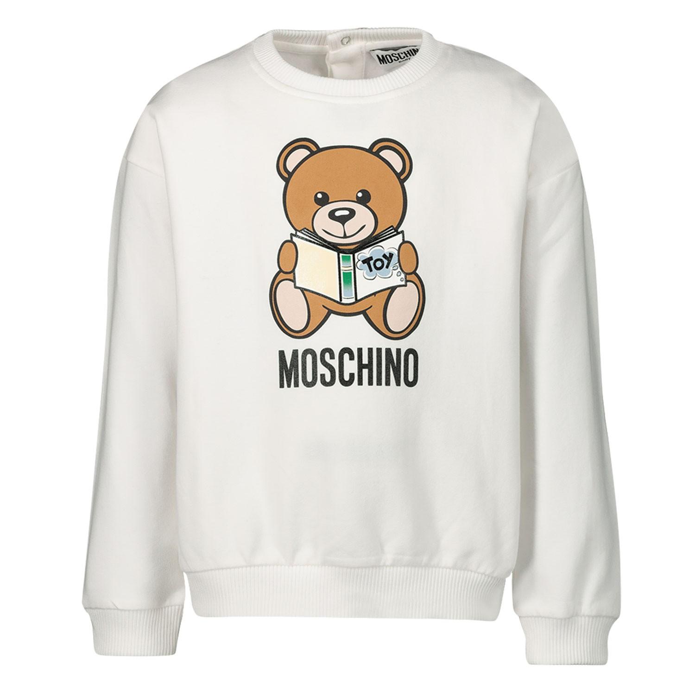 Afbeelding van Moschino MUF02Z baby trui off white