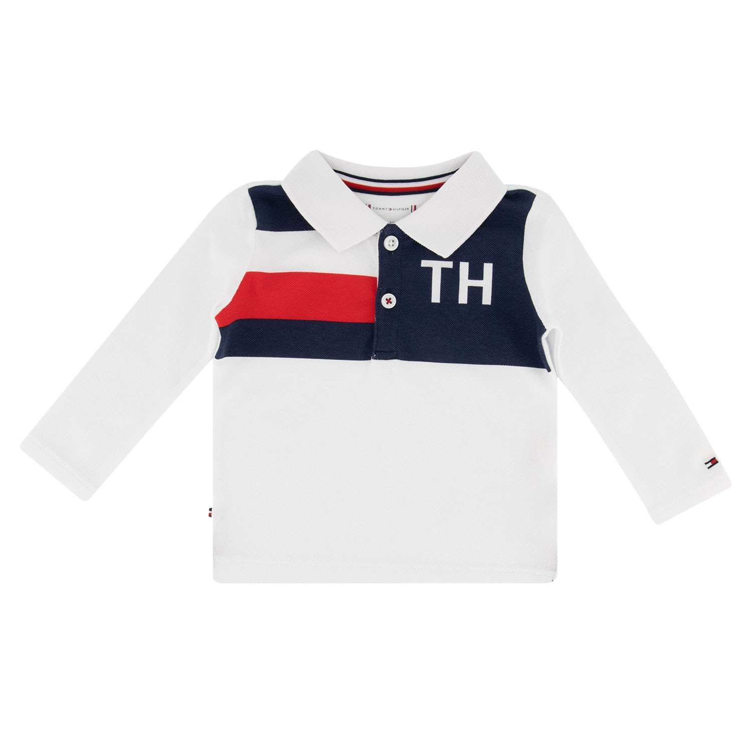 Afbeelding van Tommy Hilfiger KN0KN01028 baby polo wit