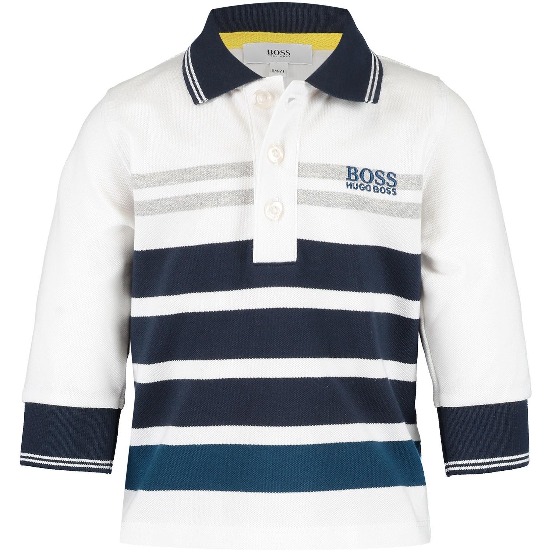Afbeelding van Boss J05682 baby polo wit