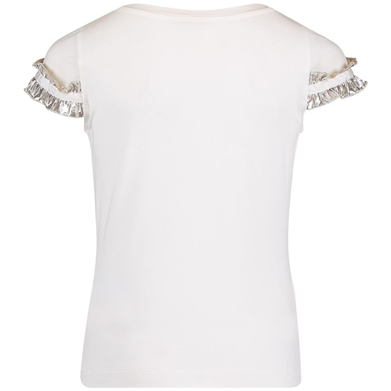 monnalisa 713604 meisjes kinder t shirt off white bij. Black Bedroom Furniture Sets. Home Design Ideas