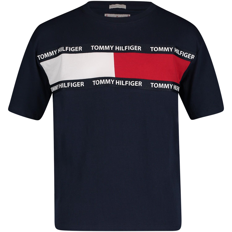 Picture of Tommy Hilfiger KS0KS00036 kids t-shirt navy