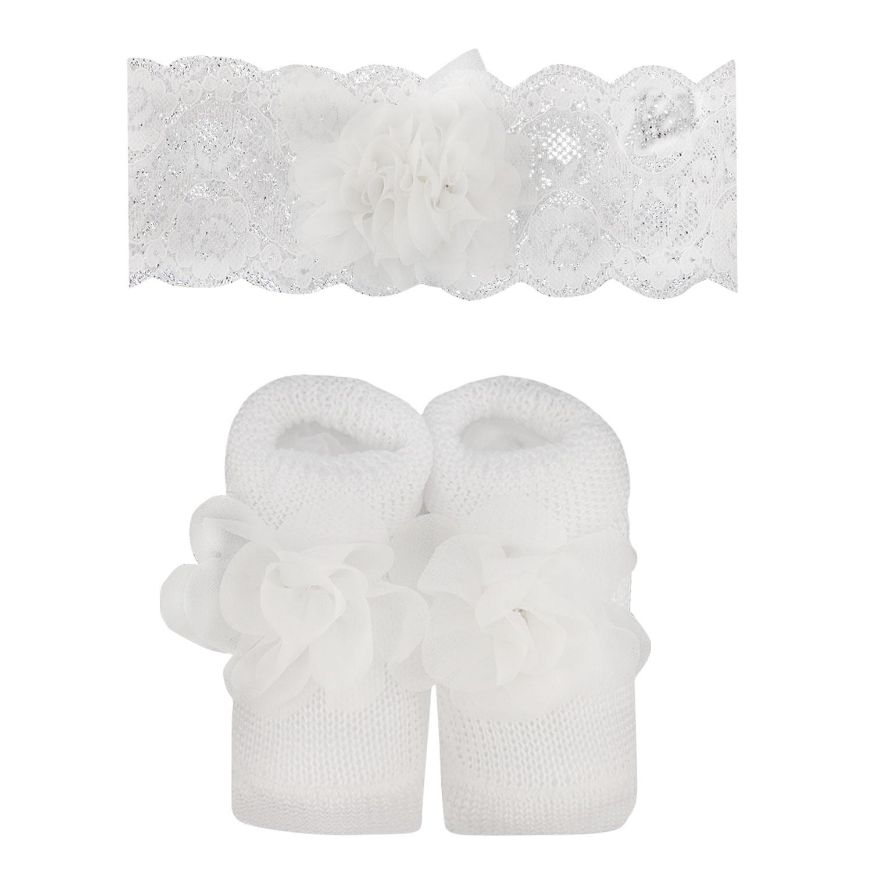 Afbeelding van MonnaLisa 355020 babysetje wit