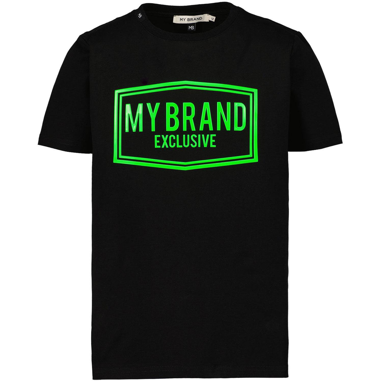 Afbeelding van My Brand 3X21001C007 kinder t-shirt zwart