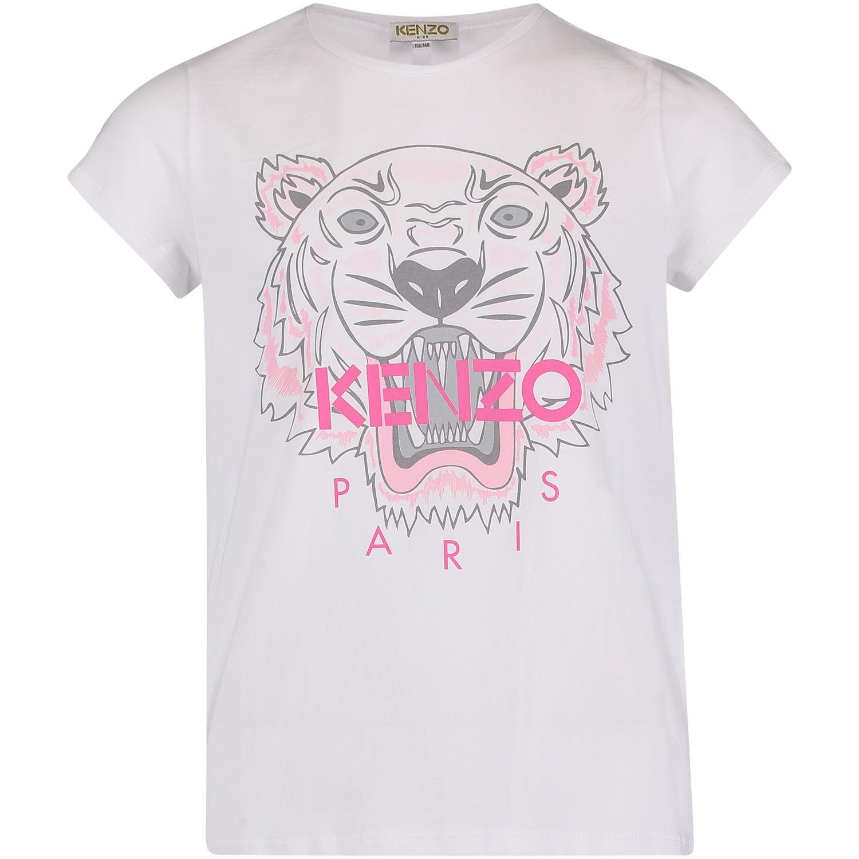 Afbeelding van Kenzo KM10058 kinder t-shirt wit