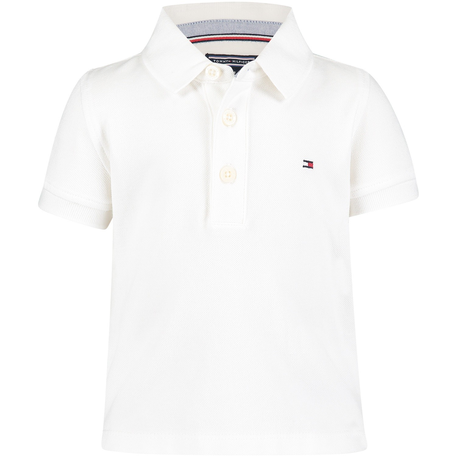 Picture of Tommy Hilfiger KB0KB03975B baby poloshirt white