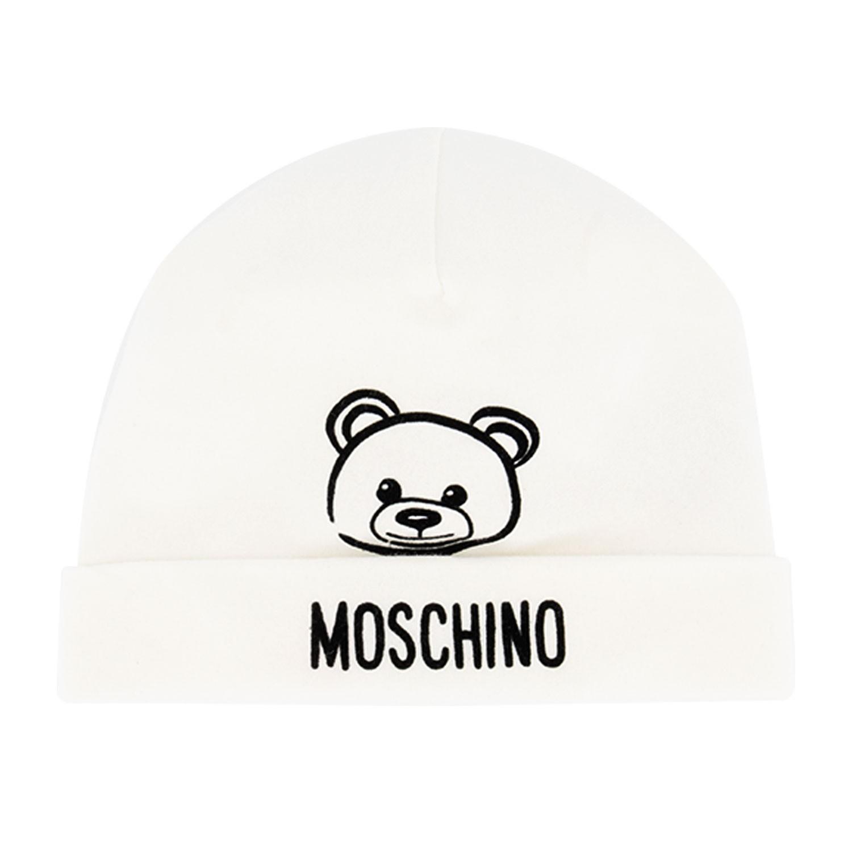 Afbeelding van Moschino MPX031 babymutsje off white