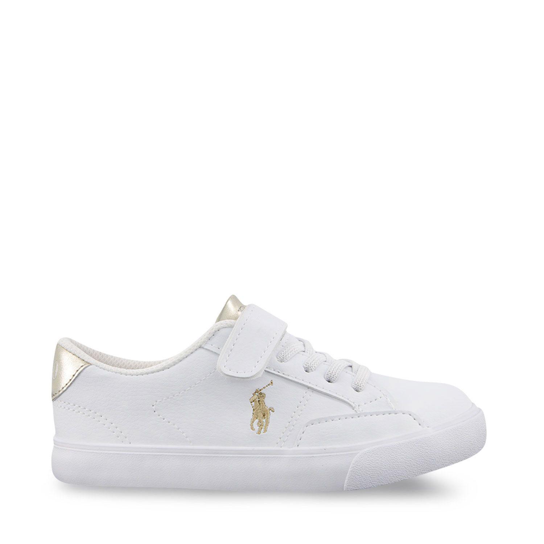 Afbeelding van Ralph Lauren RF102987 kindersneakers wit/goud