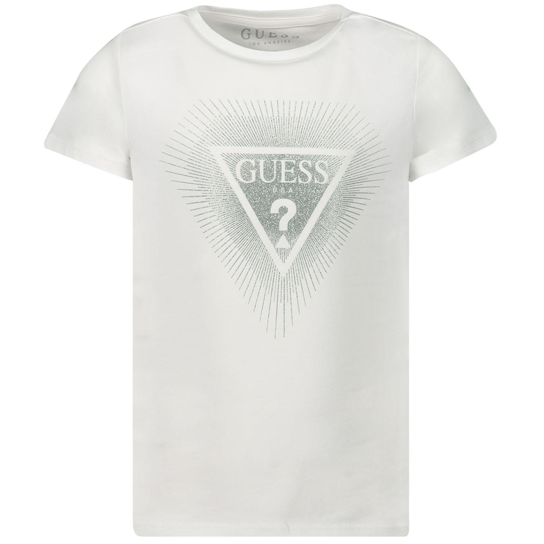Afbeelding van Guess K93I00 kinder t-shirt wit