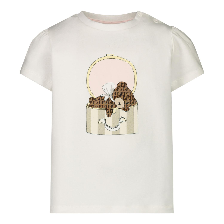Afbeelding van Fendi BFI116 baby t-shirt off white