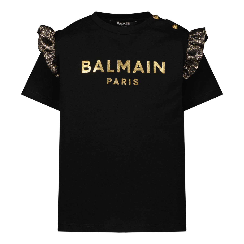 Afbeelding van Balmain 6P8891 baby t-shirt zwart