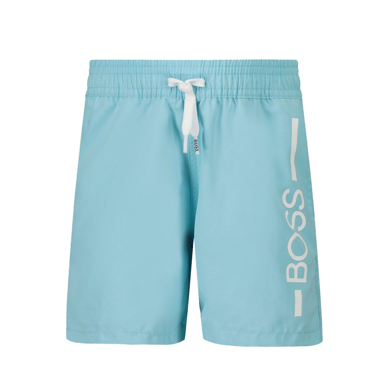 Afbeelding van Boss J04404 baby badkleding turquoise
