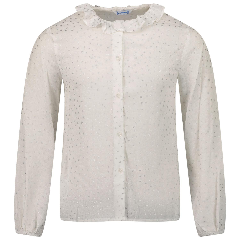 Afbeelding van Mayoral 4172 kinder overhemd off white
