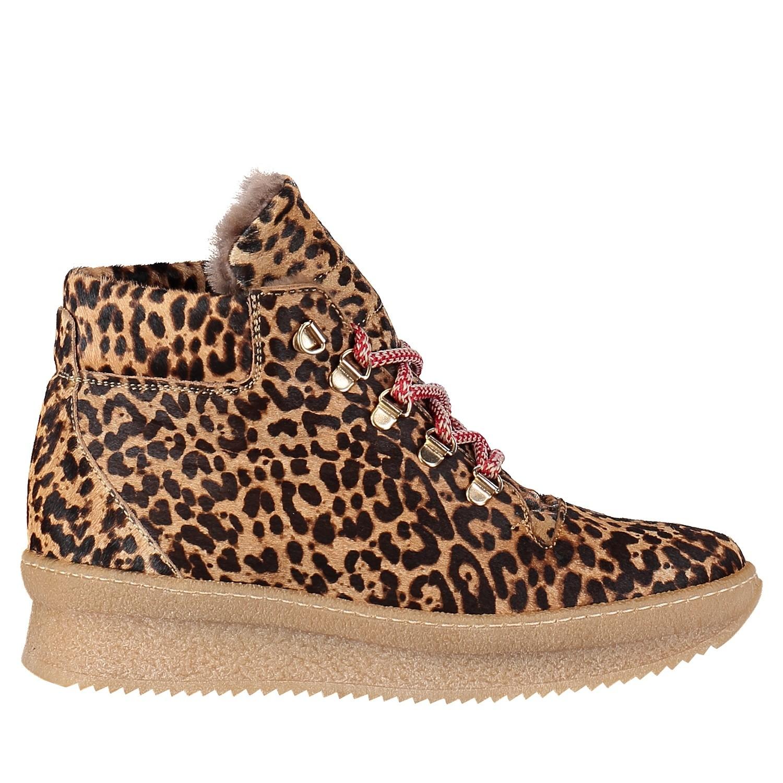 Afbeelding van Toral 10995 dames sneakers panter