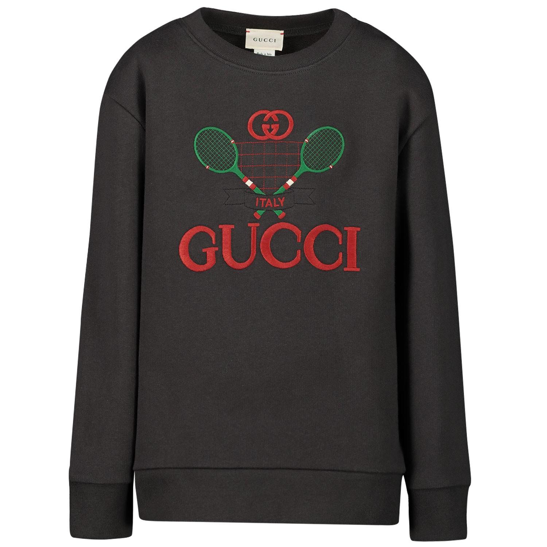 Afbeelding van Gucci 586138 kindertrui zwart