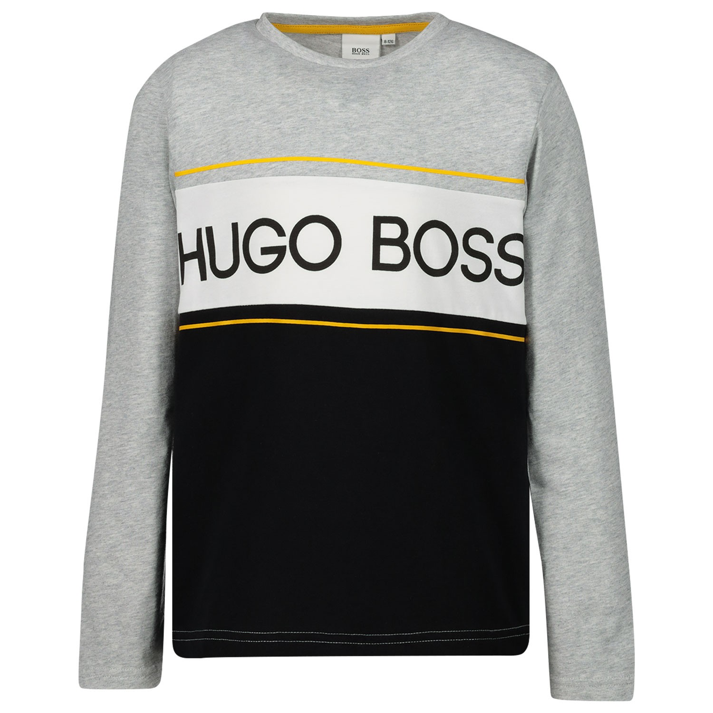 Afbeelding van Boss J25E43 kinder t-shirt grijs