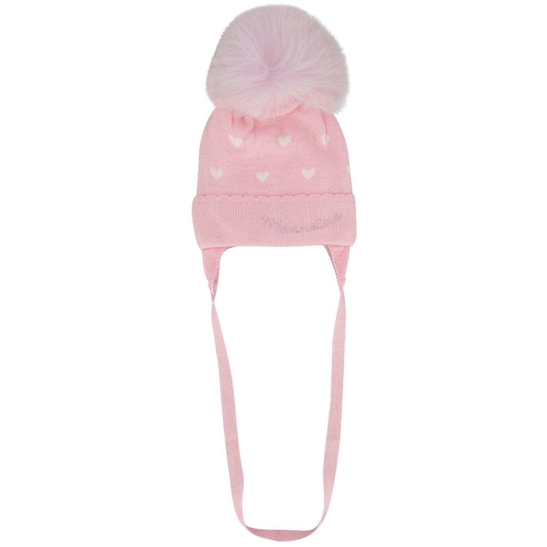 Afbeelding van MonnaLisa 376009 baby mutsje licht roze