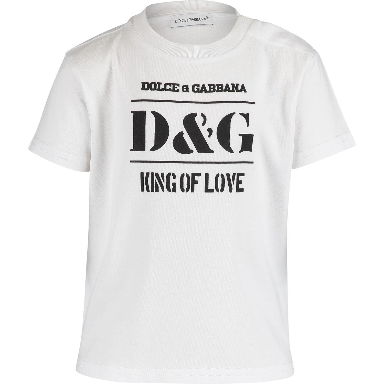 Afbeelding van Dolce & Gabbana L1JT8E baby t-shirt wit