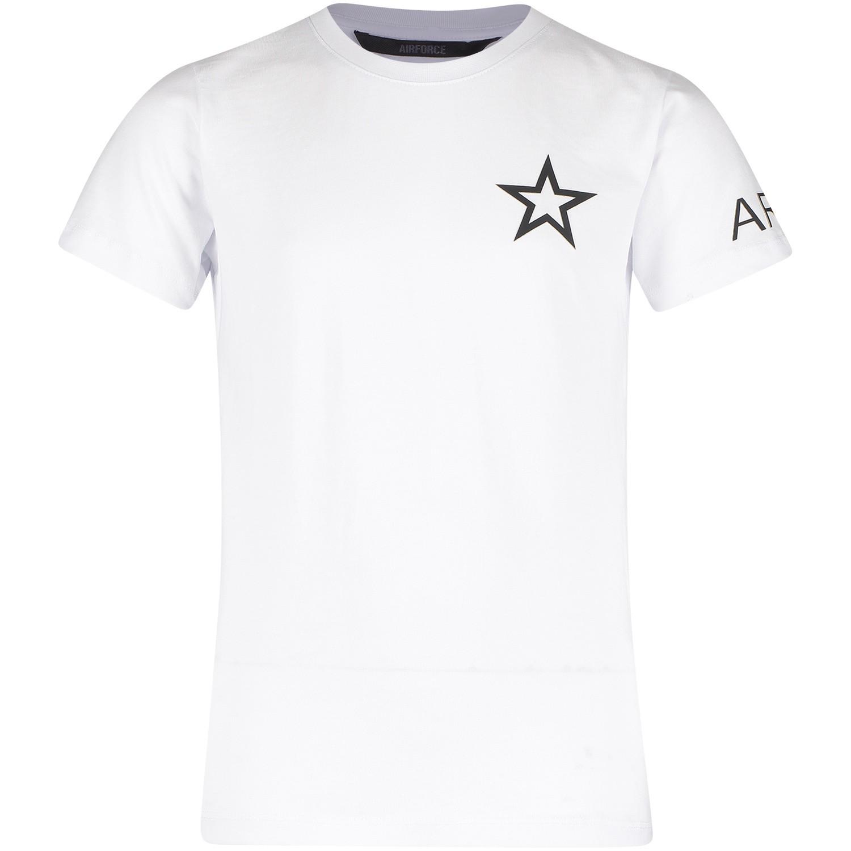 Afbeelding van Airforce B0511 kinder t shirt wit