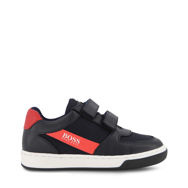 Afbeelding van Boss J09160 kindersneakers navy