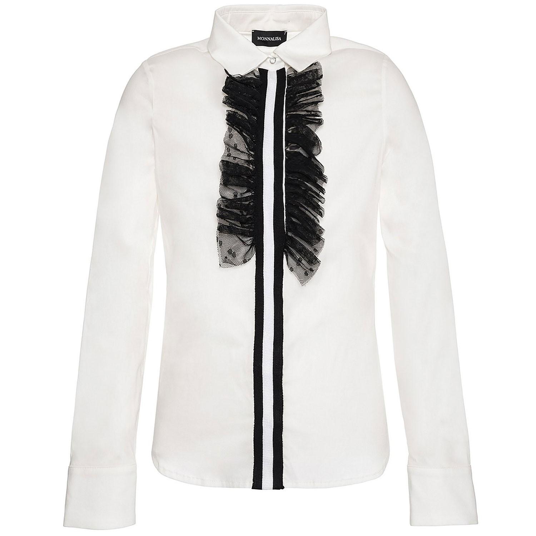 Afbeelding van MonnaLisa 414303 kinder overhemd off white