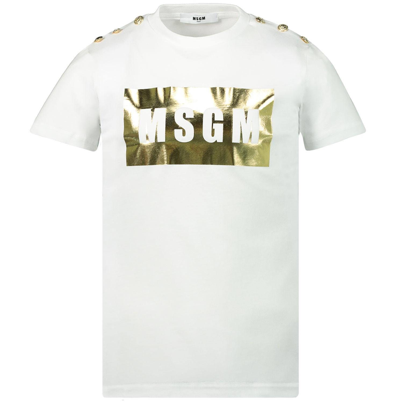 Afbeelding van MSGM 020681 kinder t-shirt wit