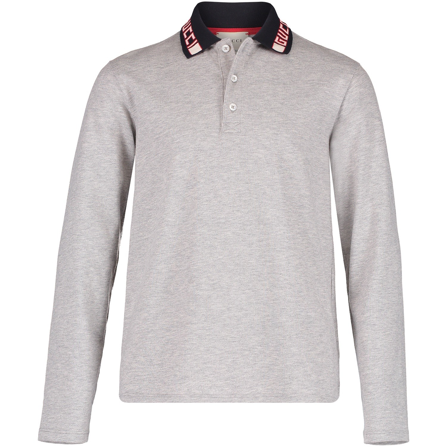 Picture of Gucci 533011 kids polo shirt grey 5c643b9b3bc