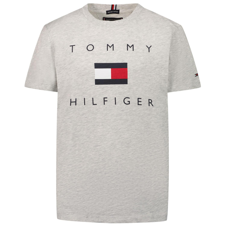 Afbeelding van Tommy Hilfiger KB0KB06523 kinder t-shirt grijs