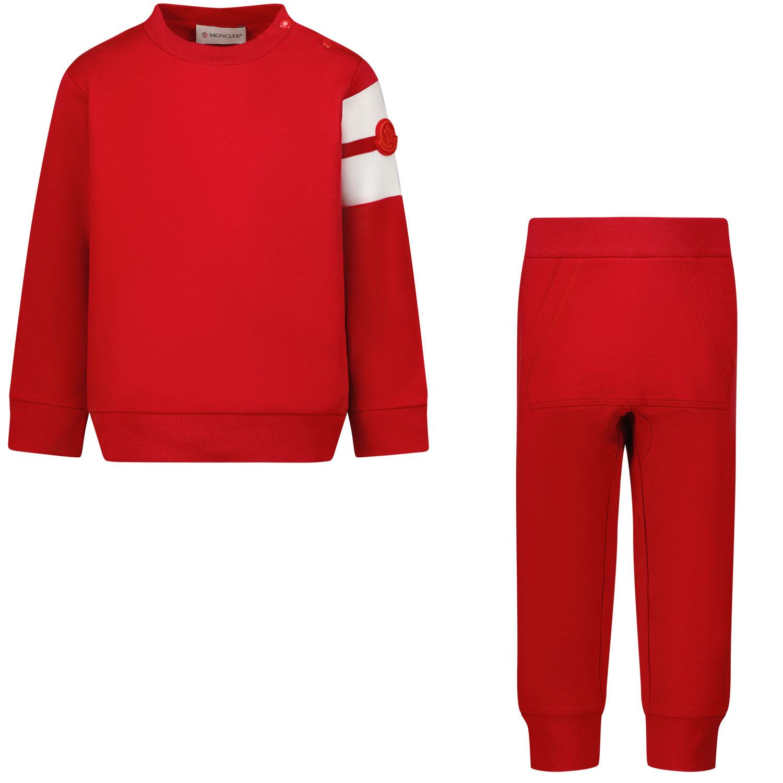 Afbeelding van Moncler 8M76620 baby joggingpak rood