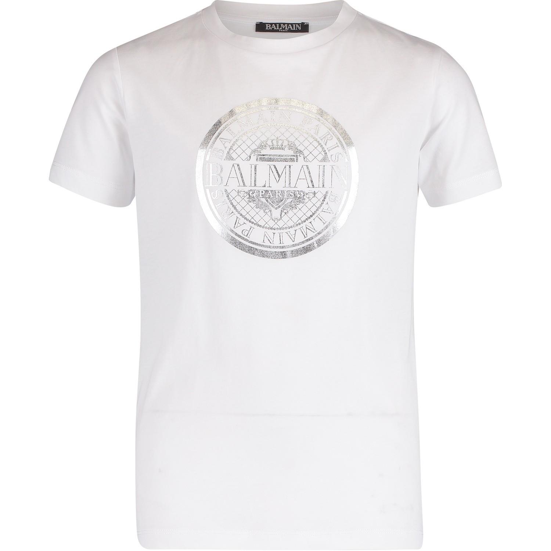 Afbeelding van Balmain 6K8521 kinder t-shirt wit