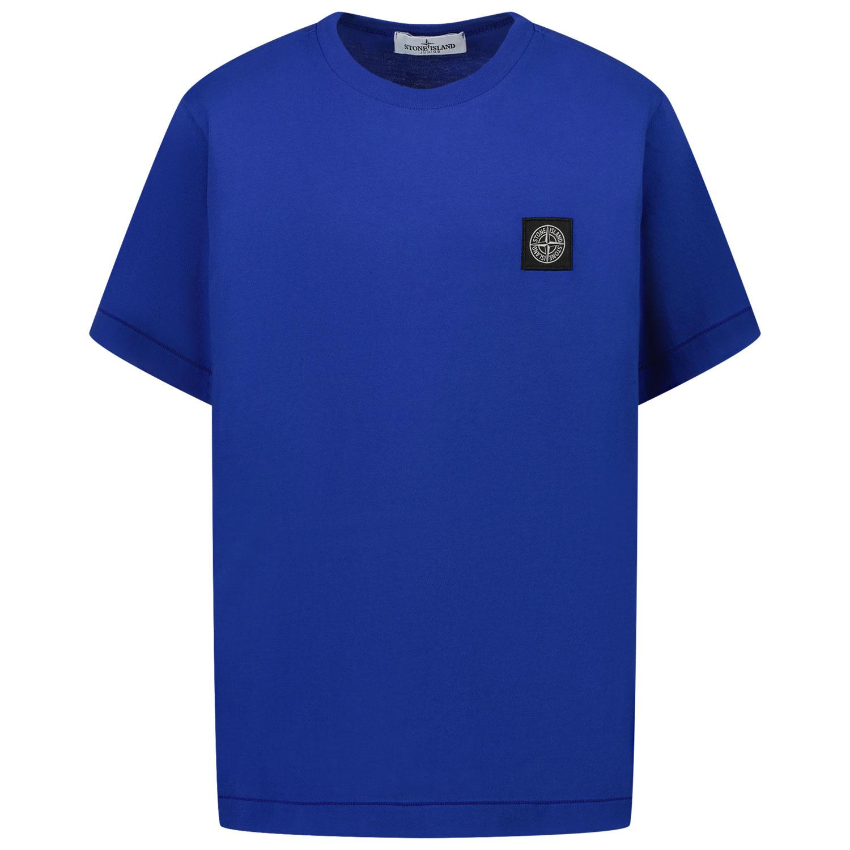 Afbeelding van Stone Island 20147 kinder t-shirt cobalt blauw