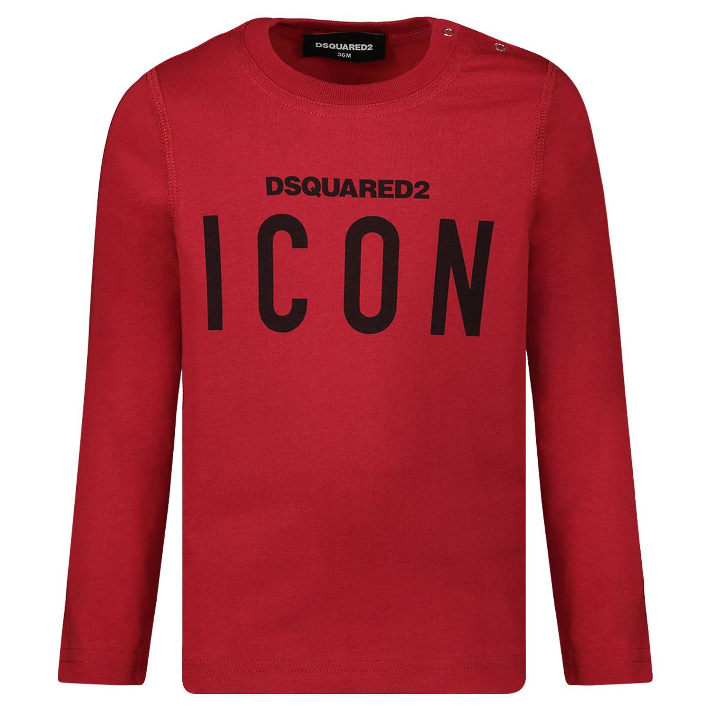 Afbeelding van Dsquared2 DQ031Q baby t-shirt rood