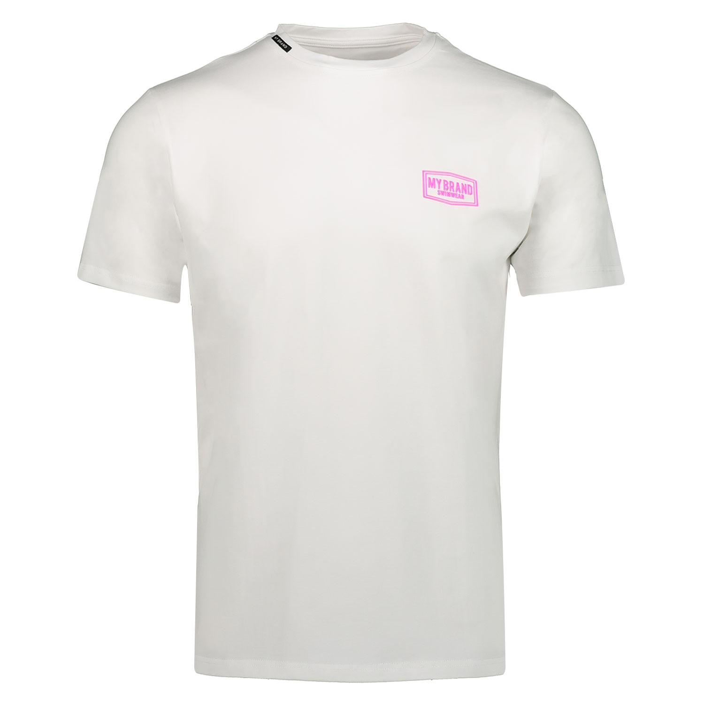 Afbeelding van My Brand MMBTS0032 heren t-shirt fluor roze