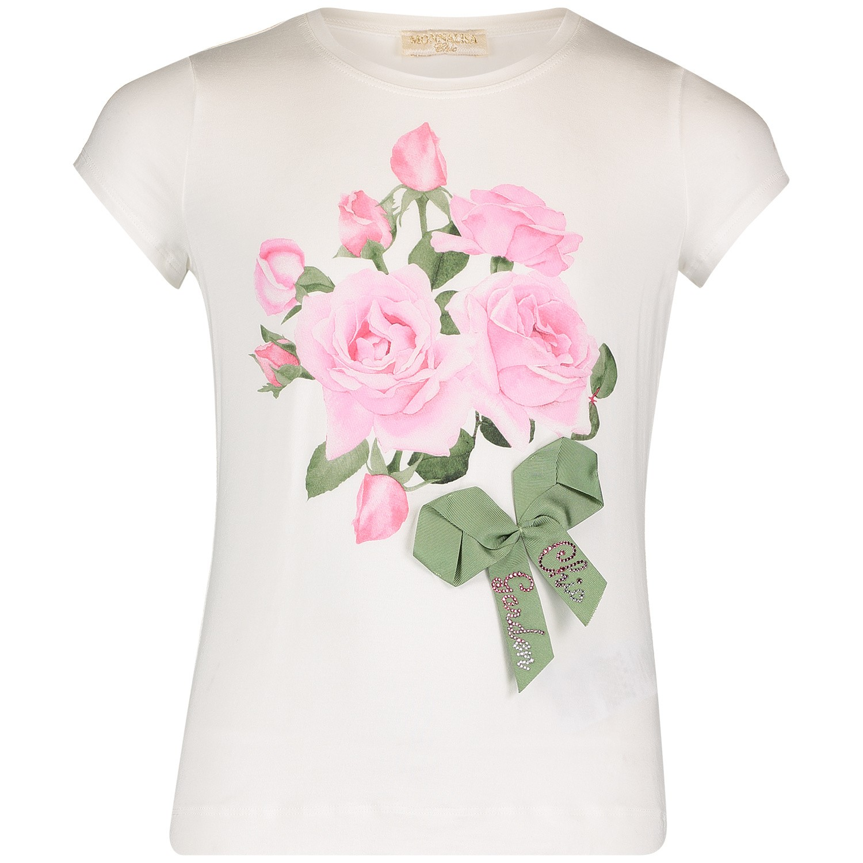 Afbeelding van MonnaLisa 713600S8 kinder t-shirt off white