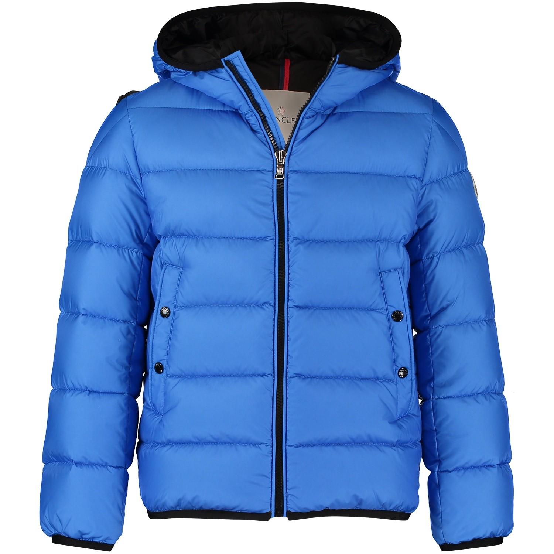 Afbeelding van Moncler 4199805 kinderjas cobalt blauw