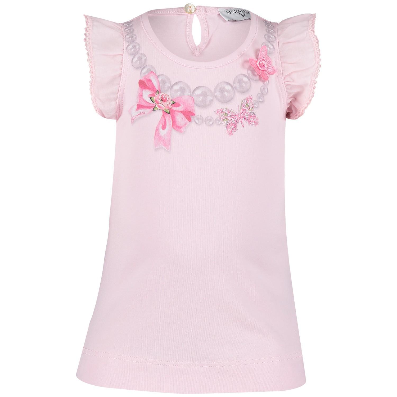 Afbeelding van MonnaLisa 393612SK baby t-shirt licht roze